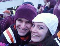 Watching VT football with my girlfriend
